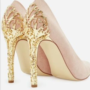 Blush and Gold pumps